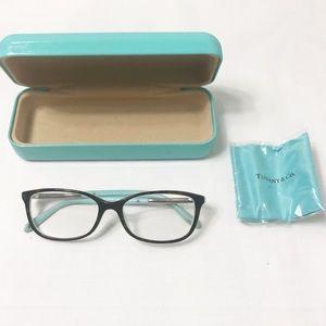 Tiffany Eyeglass Frames Tortoise Blue Silver